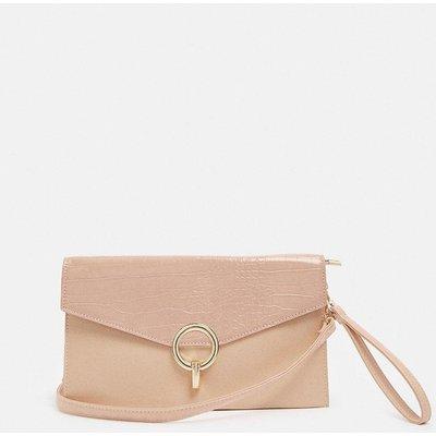 Coast Envelope Clutch Bag With Metal Trim Detail -, Pink