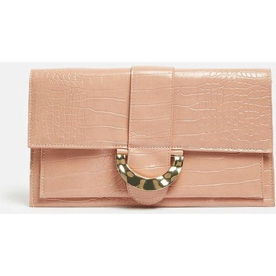 Coast Rectangle Clutch With Detail Fastening -, Pink