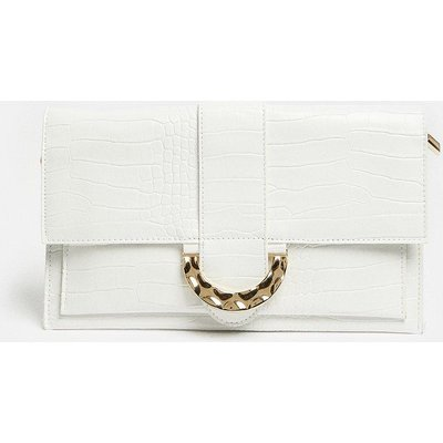 Coast Rectangle Clutch With Detail Fastening -, Ivory