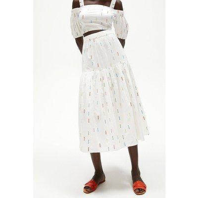 Coast Rainbow Cotton Maxi Skirt -, White