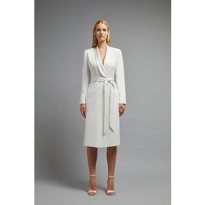 Coast Premium Midi Tuxedo Dress -, Ivory