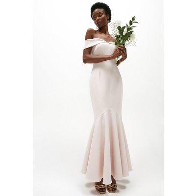 Coast Premium Bardot Fishtail Maxi Dress -, Pink