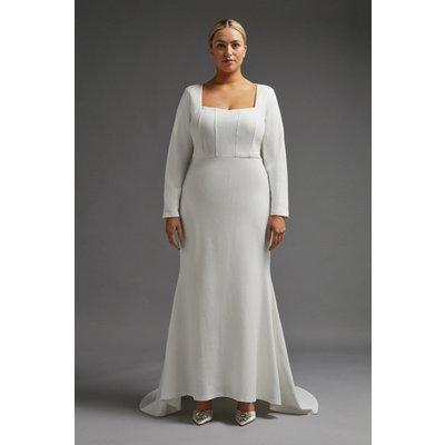 Coast Curve Maxi Dress With Trail -, Ivory