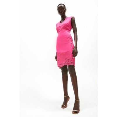 Coast Embroidered Scallop Shift Dress -, Pink