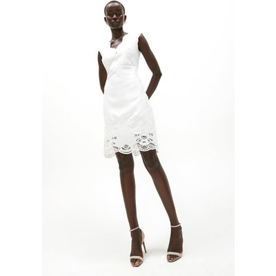 Coast Embroidered Scallop Shift Dress -, Ivory