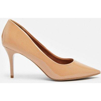 Coast Patent Court Shoe -, Light Beige