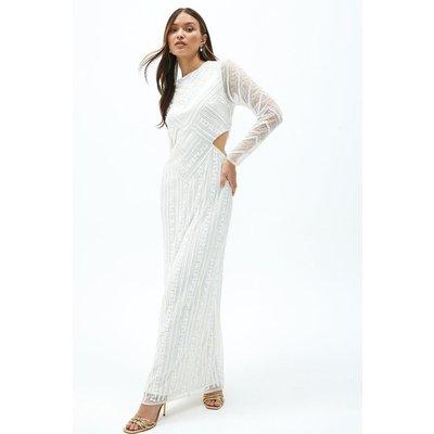 Coast Embellished Side Cut Out Maxi Dress -, Ivory