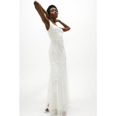 Coast Sequin Floral Maxi Dress -, Ivory