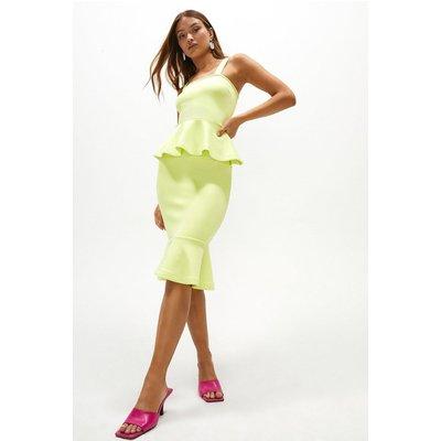Coast Scuba Peplum Hem Pencil Skirt -, Green