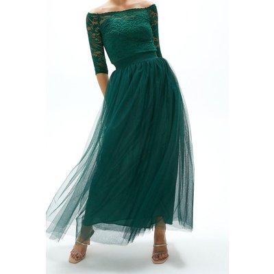 Coast Tulle Maxi Skirt -, Green