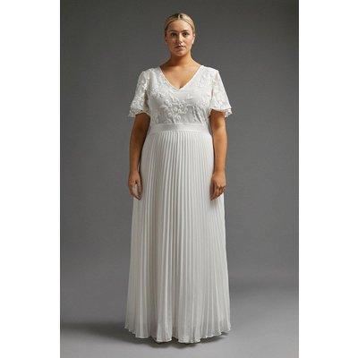 Coast Curve V Neck Embroidered Maxi Dress -, Ivory