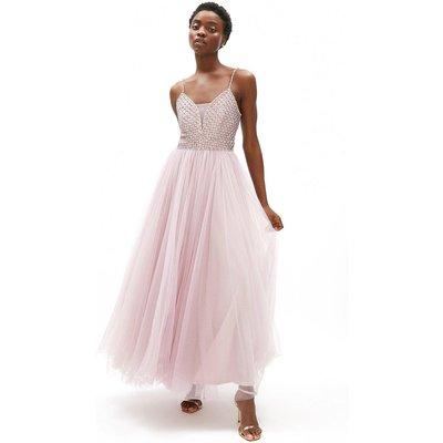 Coast Embellished Full Tulle Skirt Maxi Dress -, Pink