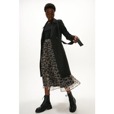 Coast Wool Mix Belted Unlined Wrap Coat -, Black