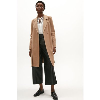 Coast Wool Mix Belted Unlined Wrap Coat -, Oatmeal