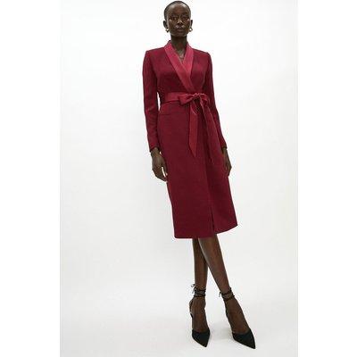 Coast Tuxedo Midi Dress -, Red