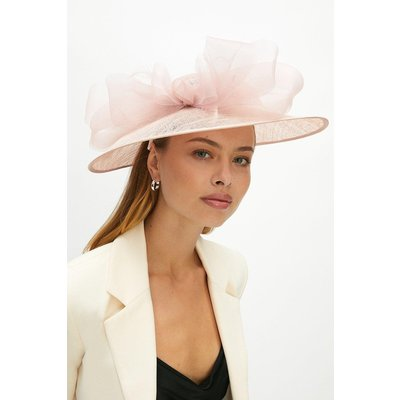Coast Premium Organza Bow Hat Style Fascinator - Dusky, Pink