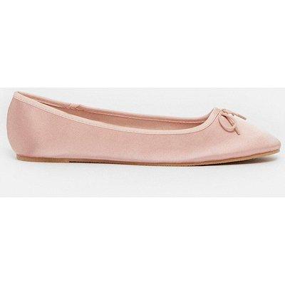 Coast Bow Front Ballet Pump -, Pink