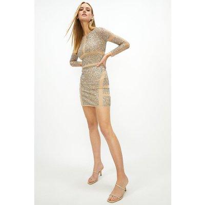 Coast Sustainable Embellished Dress -, Gold