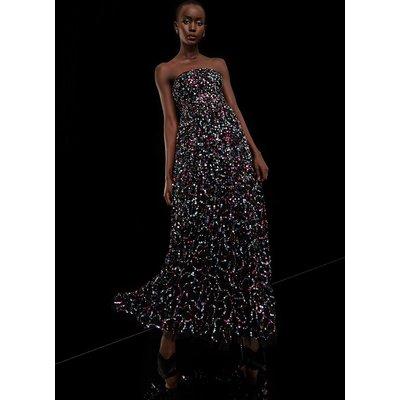 Coast 3d Embellished Bandeau Midaxi Dress -, Black