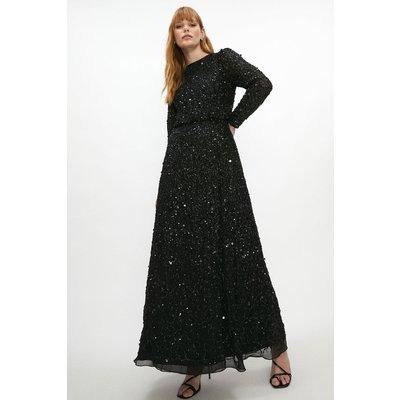 Coast All Over Sequin Wrap Dress -, Black