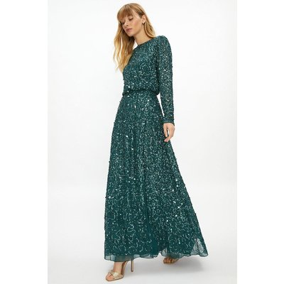 Coast All Over Sequin Wrap Dress -, Green
