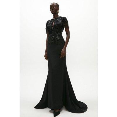 Coast Embellished Fringe Maxi Dress -, Black