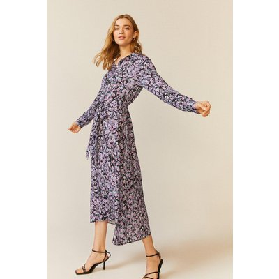 Coast Floral Printed Shirt Dress -, Purple
