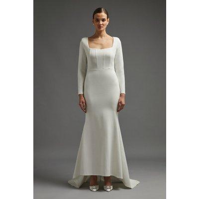 Coast Long Sleeve Bridal Maxi Dress With Trail -, Ivory