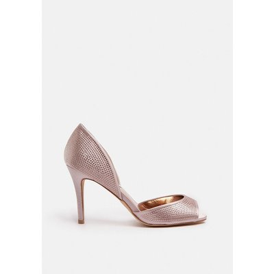 Coast Diamante Peep Toe Court Shoe -, Pink