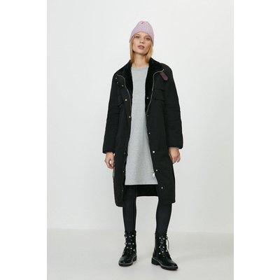 Coast Faux Fur Lined Coat -, Black