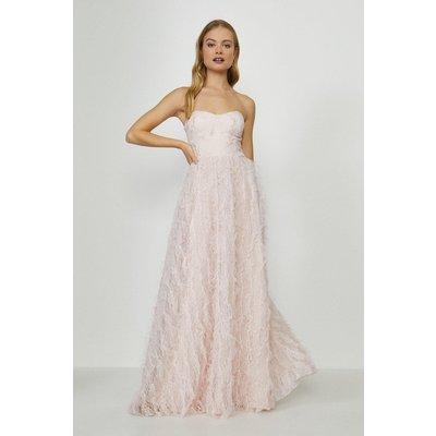 Coast Tulle Bodice Ruffle Dress -, Pink