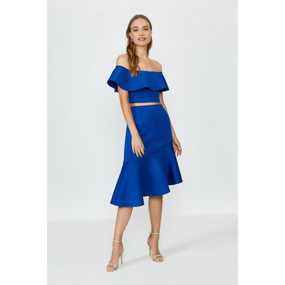 Coast Off The Shoulder Top And Midi Skirt Co-Ord -, Blue