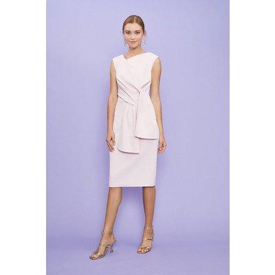 Coast Sleeveless Bow Front Shift Dress -, Pink