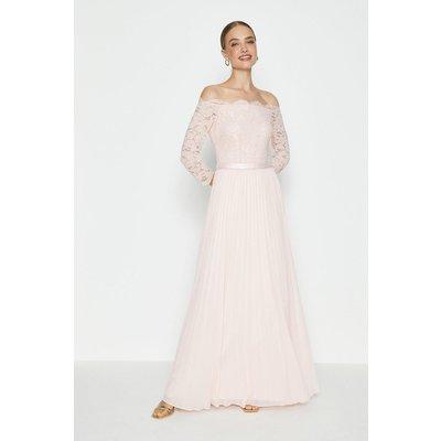 Coast Lace Bodice Bardot Maxi Dress -, Pink