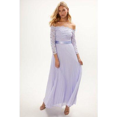 Coast Lace Bodice Bardot Maxi Dress -, Lilac