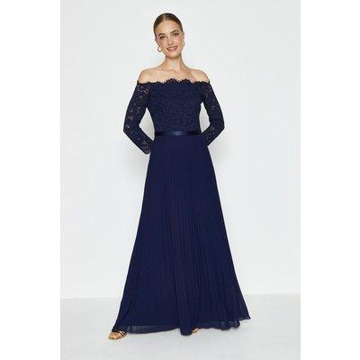 Coast Lace Bodice Bardot Maxi Dress -, Navy