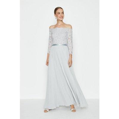 Coast Lace Bodice Bardot Maxi Dress -, Silver