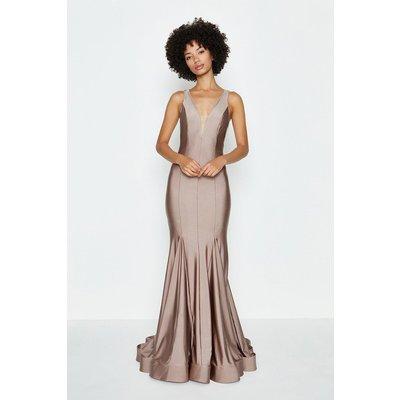 Coast Deep Plunge V-Neck Maxi Dress -, Pink