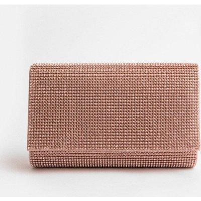 Coast Diamante Clutch Bag, Pink