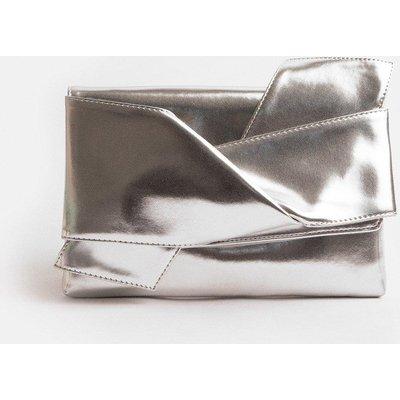Coast Origami Clutch Bag, Silver