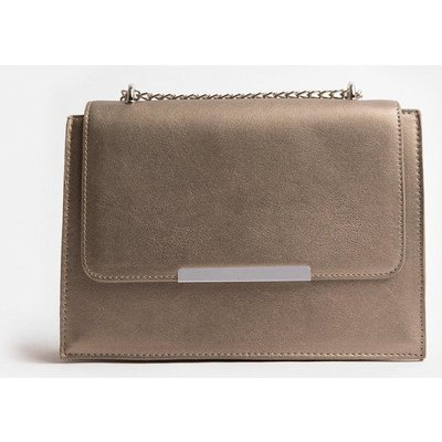 Coast Boxy Chain Detail Clutch Bag Pewter, Grey