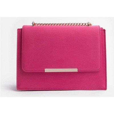 Coast Boxy Chain Detail Clutch Bag, Pink