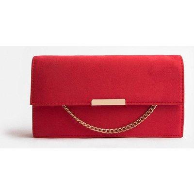 Coast Chain Detail Envelope Clutch Bag, Red