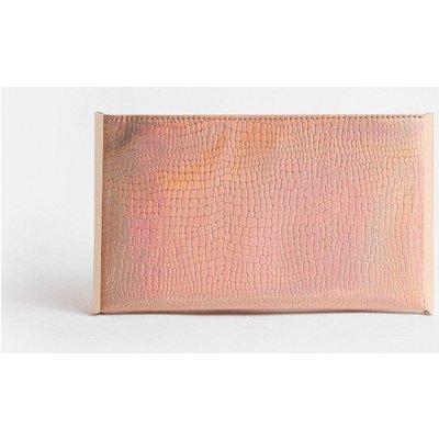 Coast Irridescent Boxy Clutch Bag, Pink
