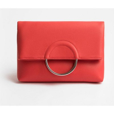 Coast Ring Detail Clutch Bag, Pink
