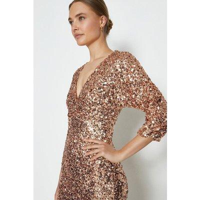Coast Kimono Sleeve Sequin Maxi Dress, Pink