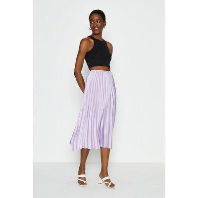 Coast Pleated Midi Skirt -, Lilac