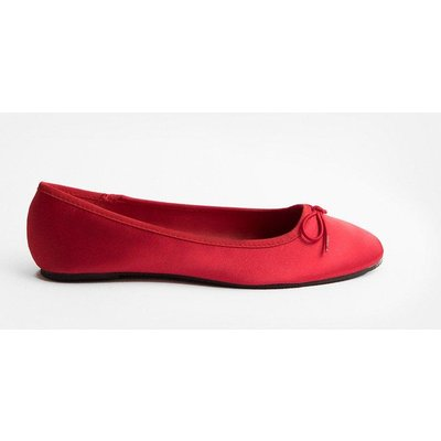 Coast Satin Ballerina Pump -, Red