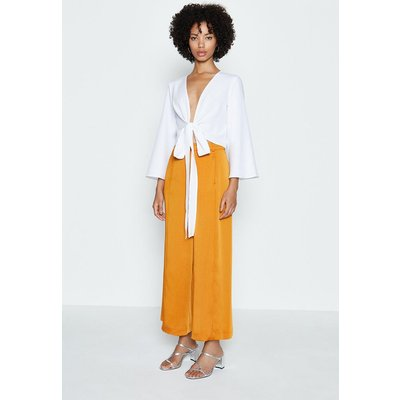 Coast Tie Front Long Sleeve Top, Ivory
