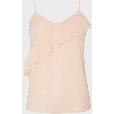 Coast Strappy Ruffle Front Cami Top, Pink
